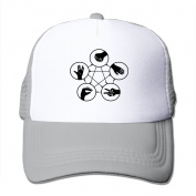 Rock Paper Scissors Lizard Spock printed Hat Summer Mesh Cap With Adjustable Snapback Strap With 5 Colours