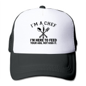 I'm A Chef Here To Feed Your Ass Not Kiss Itprinted Hat Summer Mesh Cap With Adjustable Snapback Strap With 5 Colours