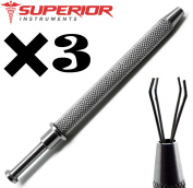 3 Pcs Superior Ball Grabeer Piercing Hold 3mm to 8mm tools Stainless Steel Instruments