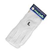 Size Large - 6 Pairs (12 Gloves) Gloves Legend White Coin Moisturising Jewellery Silver Inspection Cotton Lisle Gloves - Medium Weight