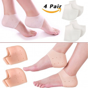 Heel Spur Pads for Plantar Fasciitis 8 Pcs,Silicone Gel Sleeve Breathable Protective Heel-Pain Relief .