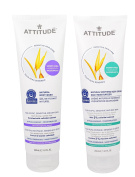 Attitude Natural Body Wash and Soothing Body Cream Bundle With Oatmeal and Shea Butter, 240ml Each