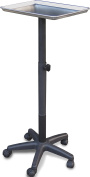 2300-M Utility Tray Tray Stand Adjustable Trolley Medical Salon Equipment Tattoo MADE IN USA