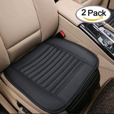 Car Interio Seat full use of PU Leather Bamboo Charcoal,use for home office and car (2pcs) (Black)