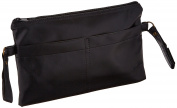 Sammons Preston 081171362 Black Vinyl Side Pouch for Wheelchairs, Rollators, and Walkers, Portable Bag with Pocket, Wheelchair Accessories, Rollator Pouch