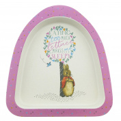 Beatrix Potter Peter Rabbit Featuring Flopsy Organic Plate made from Bamboo Height:3.0cm Width:22.0cm Depth:18.0cm