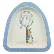 Beatrix Potter Peter Rabbit Featuring Peter Organic Plate made from Bamboo / Height:3.0cm Width:22.0cm Depth:18.0cm