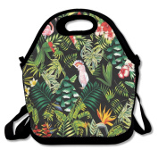 Tropical Birds Extra Large Insulated Lunch Box Food Container