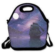 Space Galaxy Sailboat Extra Large Gourmet Lunch Tote Food Container