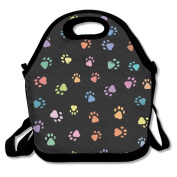 Animal Prints Extra Large Insulated Lunch Box Food Handbag