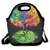 Neoprene Lunch Tote - Ohm Tree Waterproof Reusable Lunch Box For Men Women Adults Kids Toddler Nurses With Adjustable Shoulder Strap - Best Travel Bag
