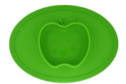 Kids Placemat & Divide Plate, Silicone Baby Plates Fits Most Highchair Mini Toddler Placemat and Bowl Less Mess Baby Feeding Mat - Make Mealtimes Fun