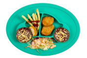 """Qshare - Mini Silicone Placemat 28cm x 20cm x 1"""", One-Piece Plate for Babies, Toddlers, and Kids, Portable BPA-Free FDA Approved Dinnerware, Suctions to Surface, Dishwasher Safe, Microwave Safe …"""