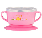 Fairy Baby Stainless Steel Baby Suction Bowl with Lid Scald-Proof