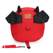 Anti-lost Children Cute Cartoon Backpack Belt Harness with Leash Child Kid Assistant Strap Little Kid Boys Girls Anti lost Travel Bag Harness Reins Cute Mini Backpacks for Toddler 1-3 Years Old Red