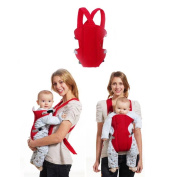 KateDy Adjustable Baby Carrier Ergonomic Carrier Sling,Soft Comfrtable Breathable Mesh Perfect for Baby,Toddlers and Infants,Safe and Cool -1pc,Red