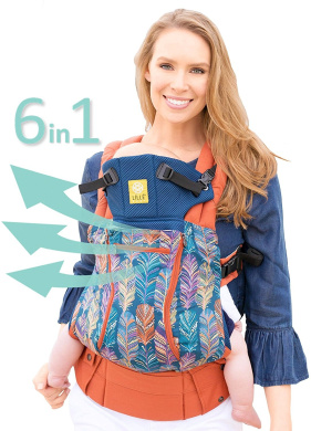 SIX-Position, 360° Ergonomic Baby & Child Carrier by LILLEbaby - The COMPLETE All Seasons (Feather Fantasy)