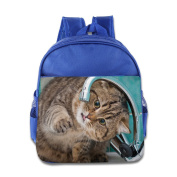 Baby Toddler Printed Cat Drinking Kid Backpack Cute For School