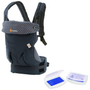 360 All Carry Positions Award-Winning Ergonomic Baby Carrier (Dusty Blue) and Lil' Jumbl Baby Hand & Foot Memory Ink Stamp Keepsake Pad