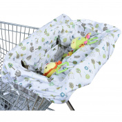 Ha & Ma Baby Shopping Cart Covers 2 in 1 Light Weight High Chiar Cover Universal Fit