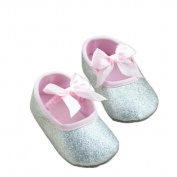 Glitter Leather Gold Silver Baby Shoes Sneaker Anti-slip Soft Sole Toddler by XILALU (US 2.5