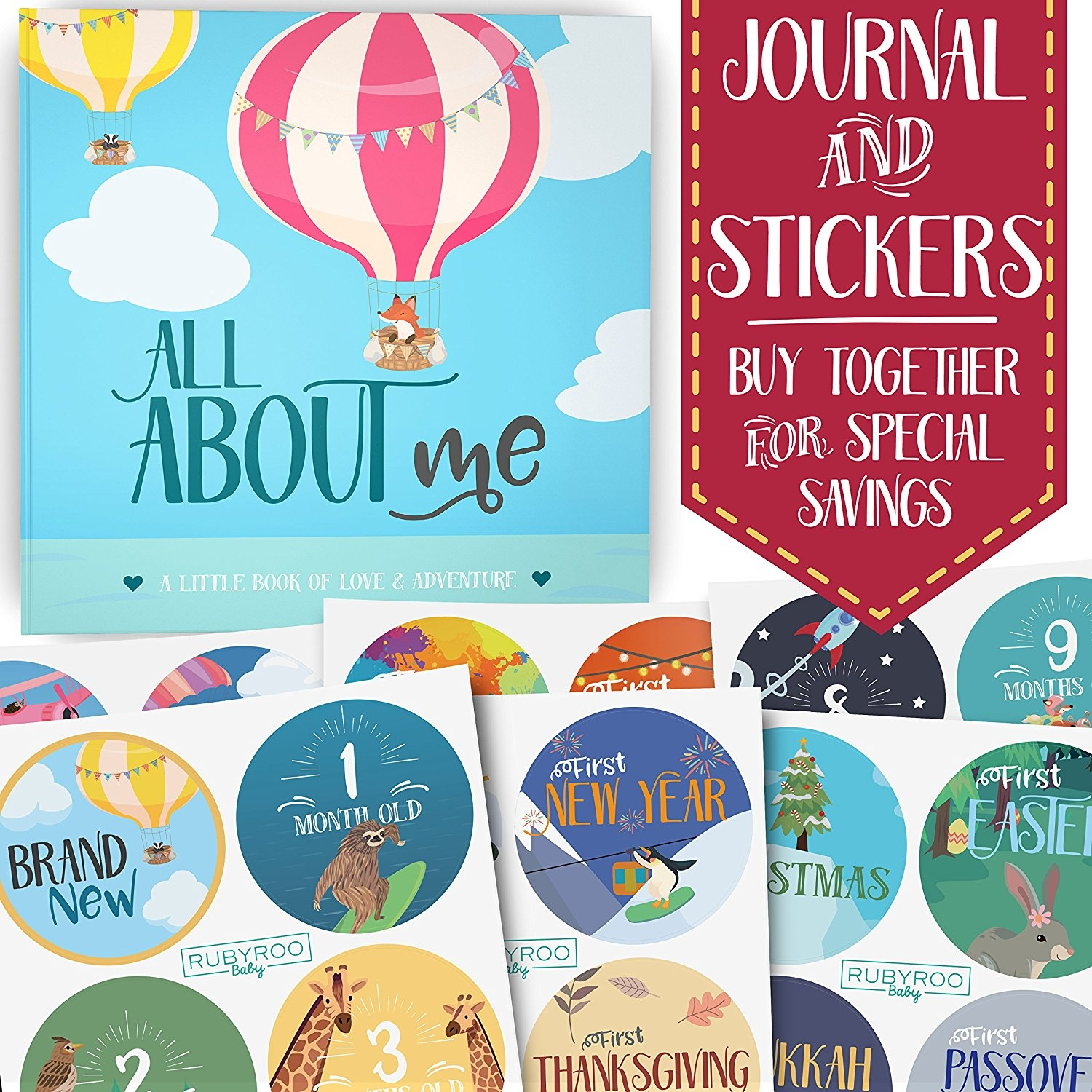 2a7e13dbf775c Baby Memory Book + Bonus Monthly Milestone Stickers. Baby shower ...