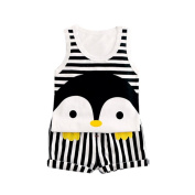 TRENDINAO 2017 Cute Penguin Print Sleeveless Outfits Vest + Pants for Newborn Baby Boys Girls