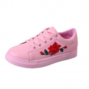 Ecurson Fashion Women's Sports Running Sneakers Embroidery Shoes (US:7.5