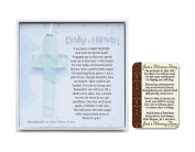 Grandparent Gift Co Baby Heaven Glass Cross, with Just a Memory Away Card   Infant Loss Gift Set