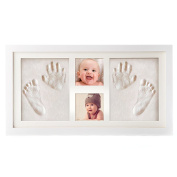 Elsatsang Baby Handprint and Footprint Picture Frame Kit,Memorable Keepsakes Gift for New Born, Baby Shower or Christening Gift,Baby Prints Photo Frames Hand and Footprint Baby Keepsake