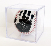 Little MVPs Baby's First Handprint Baseball Keepsake with Clear Display Cube