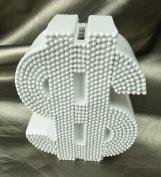 Money Symbol Money Bank White Resin 15cm