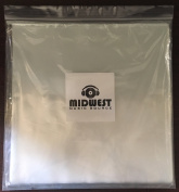 (50) - 30cm Clear Plastic Outer Vinyl Record Sleeves - Premium 3mil Thick