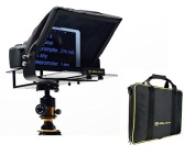 Glide Gear TMP100 Adjustable iPad/Tablet/Smartphone Teleprompter Beam Splitter Glass with Carry Case