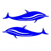 MagiDeal 2 Pieces Dolphin Vinyl Decals Stickers for Kayak Canoe Boat Car SUP Surfboard DIY
