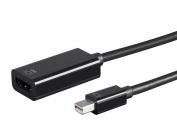 Monoprice Mini DisplayPort 1.2a to 4K at 60Hz HDMI Active UHD Adapter, Black