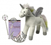 My Magical Unicorn Princess Gift Set | My Magical Unicorn 43cm Plush | Stuffed Animal Toy with Princess Tiara, Magic Wand and Princess Sticker Set