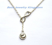 Silver Infinity Necklace, Infinity Necklace, Silver Infinity Necklace,Yin Yang Necklace,Yin and Yang Jewellery