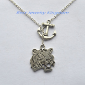 Silver Anchor Necklace,Tiger Necklace, Tiger Pendant tiger jewellery Pendant Art gift for men for women christmas gift