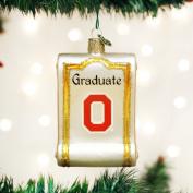 Old World Christmas Ohio State University Diploma Glass Blown Ornament