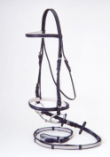 Silver Fox Padded Snaffle Bridle with Reins