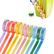 Washi Tape Masking Tape Decorative Sticky Scrapbooking Rainbow Tape for DIY Arts Cards