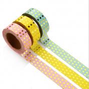 ACTLATI 3 Pcs DIY Washi Tape Points Adhesive Paper Sticker Crafts Scrapbook Card Making Decor