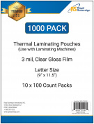 Royal Sovereign 1000-Count Thermal Laminating Pouches, 9 x 11.5 -Inches, 3 mil thick, Clear