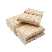 KINGLAKE 150 Pcs 15cm Natural Wood Craft Sticks for School Projects,Home Decoration,Garden Plant Label