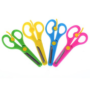 Honbay 4pcs Artwork Safety Anti-pinch Kids Scissors Cutting Tools Paper Craft Supplies