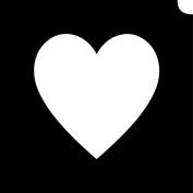 Glimmer Body Art Glimmer Tattoo Stencil - Emoji Heart