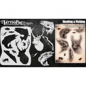 Tattoo Pro Stencils Series 4 - Hunting & Fishing