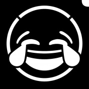 Glimmer Body Art Glimmer Tattoo Stencil - Emoji LOL