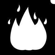 Glimmer Body Art Glimmer Tattoo Stencil - Emoji Fire